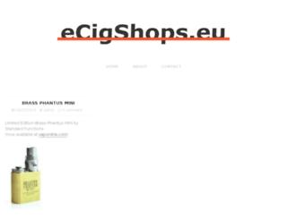 ecigshops.eu screenshot