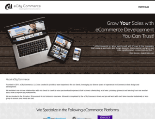 ecitycommerce.com screenshot