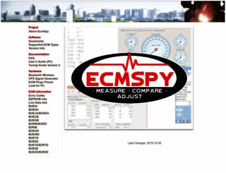 ecmspy.com screenshot