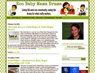 ecobabymamadrama.com screenshot