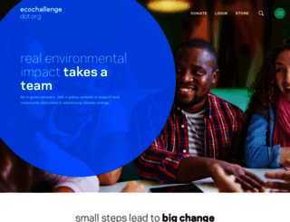 ecochallenge.org screenshot