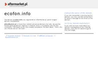 ecofon.info screenshot