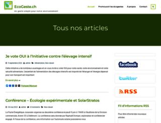 ecogeste.ch screenshot