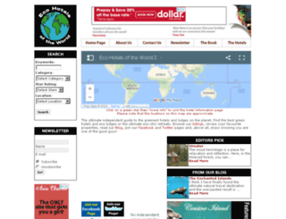 ecohotelsoftheworld.com screenshot