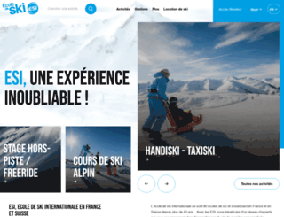 ecoledeski.fr screenshot