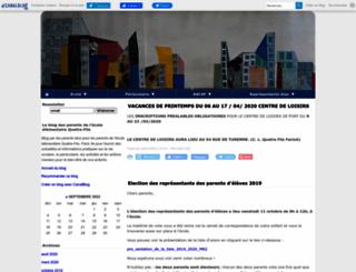ecolequatrefils.canalblog.com screenshot