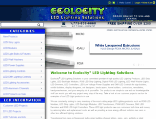 ecolightled.com screenshot