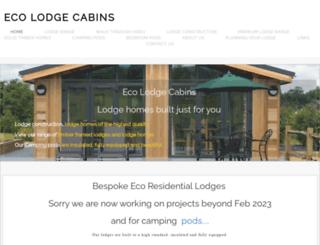 ecolodgecabins.com screenshot