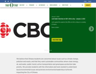 ecologyottawa.nationbuilder.com screenshot