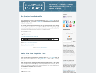 ecommercepodcast.com screenshot