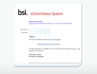 ecommittees.bsi-global.com screenshot