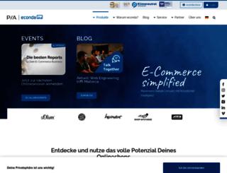 econda.com screenshot