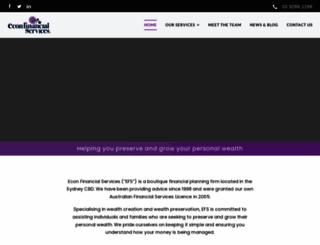 econfs.com.au screenshot