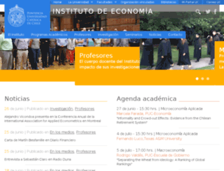 economia.puc.cl screenshot