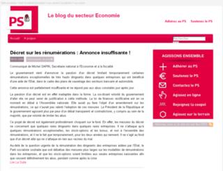 economie.parti-socialiste.fr screenshot