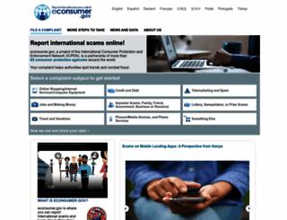econsumer.gov screenshot