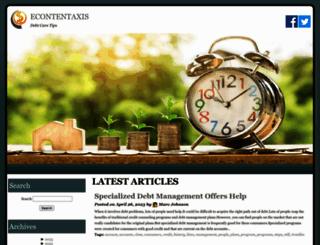 econtentaxis.com screenshot