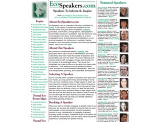 ecospeakers.com screenshot