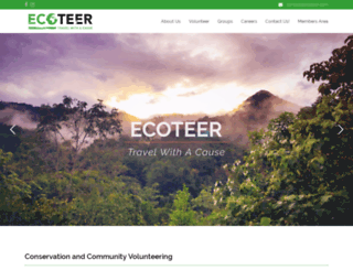 ecoteerresponsibletravel.com screenshot