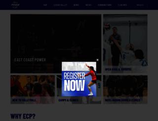 ecpowervolleyball.com screenshot
