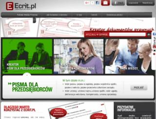 ecrit.pl screenshot