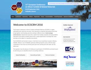 ecscrm2016.org screenshot