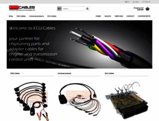 ecu-cables.de screenshot