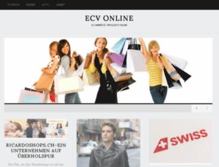 ecv-online.ch screenshot