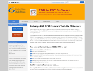 edb2pstfree.edbtopstsoftware.com screenshot