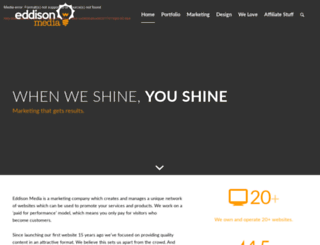 eddison-media.com screenshot