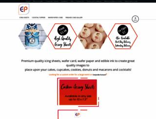 edibleprints.co.uk screenshot