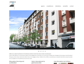 edifice-architectes.com screenshot