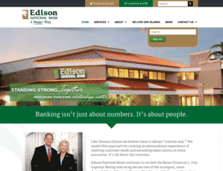 edisonnationalbank.com screenshot