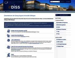 ediss.uni-goettingen.de screenshot