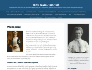 edithcavell.org.uk screenshot