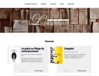editions-linventaire.com screenshot