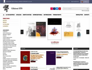 edizioniets.com screenshot