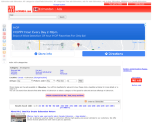 edmonton.freeadsincanada.com screenshot