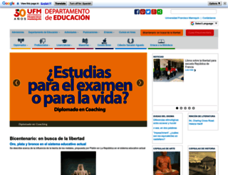 educacion.ufm.edu screenshot