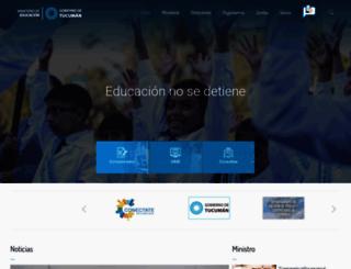 educaciontuc.gov.ar screenshot