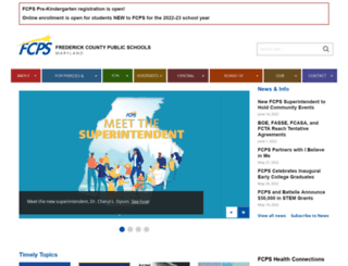 education.fcps.org screenshot