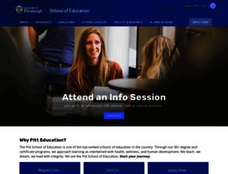 education.pitt.edu screenshot