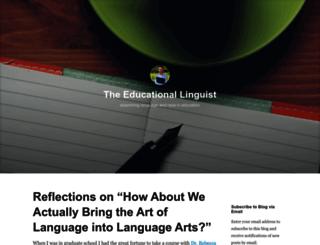 educationallinguist.wordpress.com screenshot