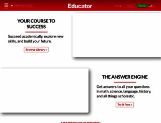 educator.com screenshot