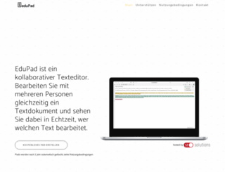 edupad.ch screenshot