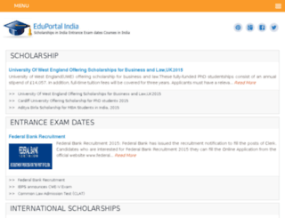 eduportalindia.com screenshot