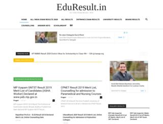eduresult.in screenshot