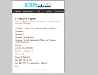 eduroam.boun.edu.tr screenshot