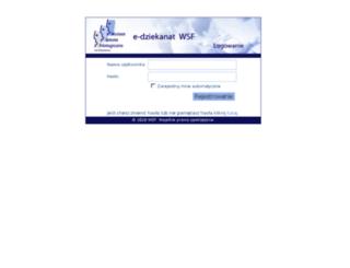 edziekanat.wsf.edu.pl screenshot