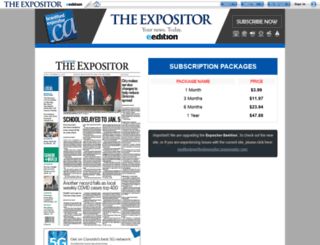 eedition.brantfordexpositor.ca screenshot